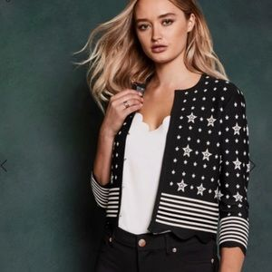 NWOT Ted Baker 0 Stars and Stripes Cardigan